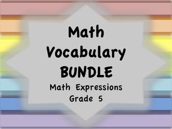 Math Vocabulary BUNDLE (Math Expressions, Grade 5)