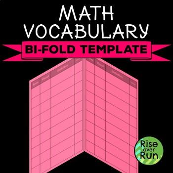 Math Vocabulary Bifold Template