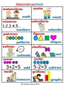 Math Vocabulary Bilingual