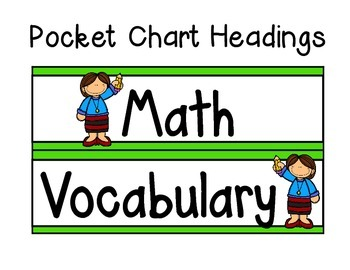 Math Vocabulary Binder and Word Wall (A Work in Progress)