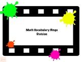 Math Vocabulary Bingo Division