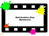 Math Vocabulary Bingo Multiplication