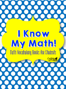 Math Vocabulary Book for Students