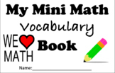 Math Vocabulary Booklet.