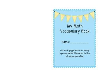 Math Vocabulary Booklet
