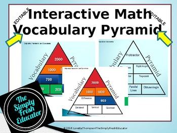 Awesome Interactive Math VOCABULARY Activity!!