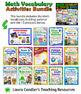 Math Vocabulary Activities Bundle