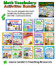 Math Vocabulary Activities Bundle