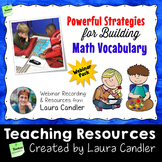 Math Vocabulary Building Professional Development Webinar