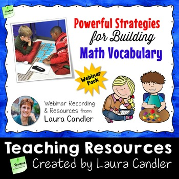 Math Vocabulary Building Webinar Pack
