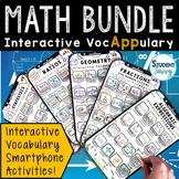 Math Vocabulary Bundle - Interactive VocAPPulary™   Digita