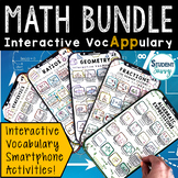 Math Vocabulary Bundle - Interactive VocAPPulary™ | Distan