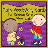 Math Vocabulary Cards (1st Grade Common Core)