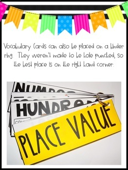 Math Vocabulary Cards:  210 Math Terms for 2nd and 3rd Grades