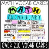 2nd and 3rd Grade Math Vocabulary Cards:  210 Math Terms for 2nd and 3rd Grades