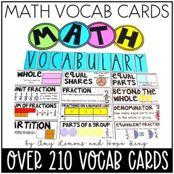 3rd grade math vocabulary cards pdf