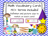 Math Vocabulary Cards