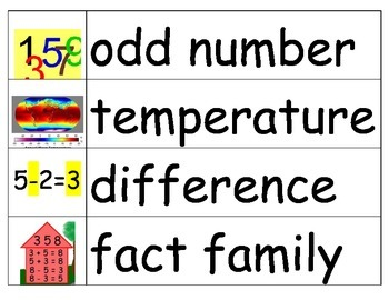 Math Vocabulary Cards (2/3 files available in set)