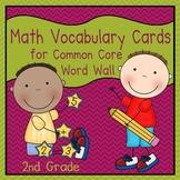 Math Vocabulary Cards (2nd Grade Common Core)