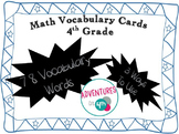 Math Vocabulary Cards 4th Grade