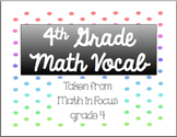 Math Vocabulary Cards: 4th grade