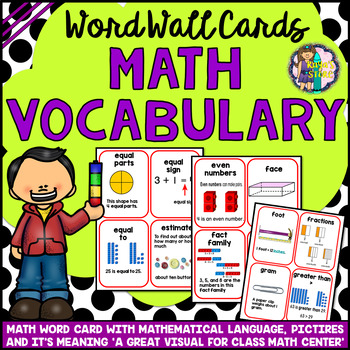 Math Vocabulary Cards A to Z (Math Word Wall Cards)