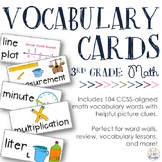 Math Vocabulary Cards {Aligned to 3rd Grade CCSS}