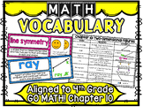 Math Vocabulary Cards Aligned to 4th Grade GO Math! Chapter 10