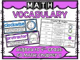 Math Vocabulary Cards Aligned to 4th Grade GO Math! Chapter 11