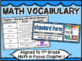 Math Vocabulary Cards Aligned to 4th Grade Math in Focus ~ Chapter 1