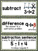 Math Vocabulary Cards (Aligned to First Grade enVision Mat