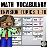 Math Vocabulary Cards (enVision Math First Grade Topics 1-