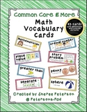 Math Vocabulary Cards: Common Core & More