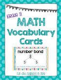 Math Vocabulary Cards {Grade 1}