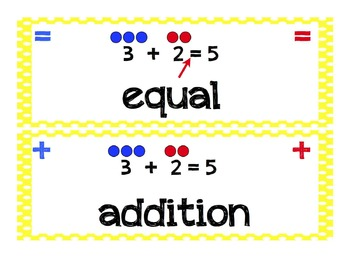 Math Vocabulary Cards (Kindergarten, Common Core)