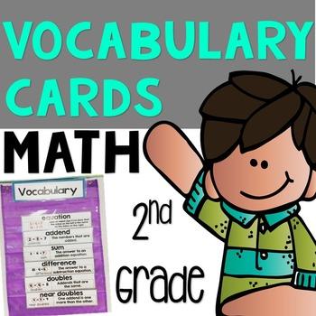 Math Vocabulary Cards {Second Grade}