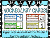 Math Vocabulary Cards- aligned to Grade 4 Math In Focus Chapter 6