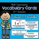 Math Vocabulary Cards Units 1-5, Grade 3, 6-7 Coming soon