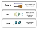 Math Vocabulary Cards for NWEA RIT 151-160