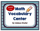 Math Vocabulary Center- Making Words Fun