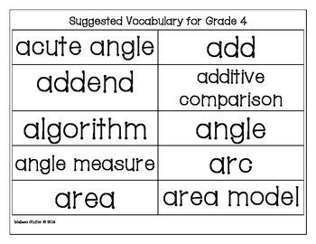 Math Vocabulary Center- Making Words Fun