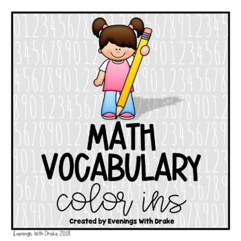 Math Vocabulary Coloring (Color In) Pages