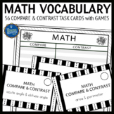 Math Compare and Contrast Task Cards and Games