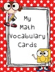 Math Vocabulary Cover