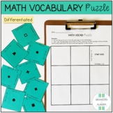 Math Vocabulary Differentiated Puzzle Activity