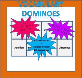 Math Vocabulary Dominoes - 3rd Grade (TEKS Aligned)