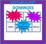Math Vocabulary Dominoes - 4th Grade (TEKS Aligned)
