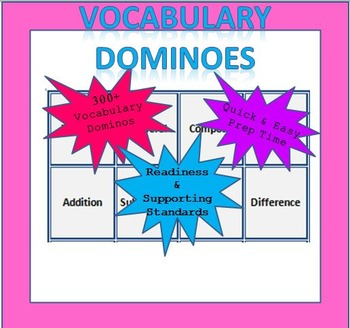 Math Vocabulary Dominoes - 6th Grade (TEKS Aligned)