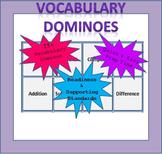 Math Vocabulary Dominoes - Kinder (TEKS Aligned)
