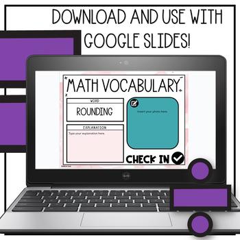 Math Vocabulary Engagement Charts Unit 2